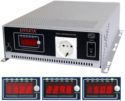 Sinus LCD Inverter 1500W 12V