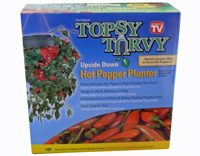 TOPSY TURVY Hot Pepper Planter Hängepflanzer Chili